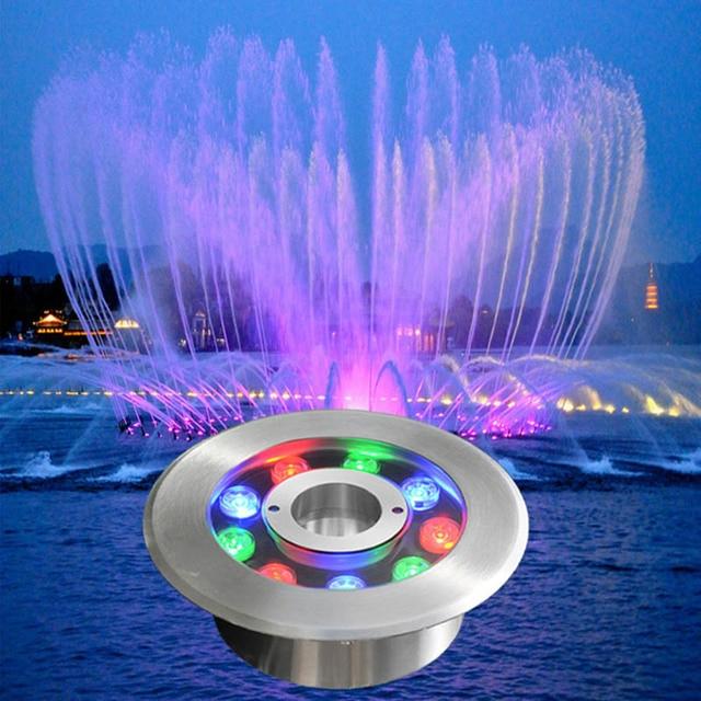 $ 64.21 6W-18W Pond Landscape Lamp 24V Colorful Swimming Pool LED Underwater Light