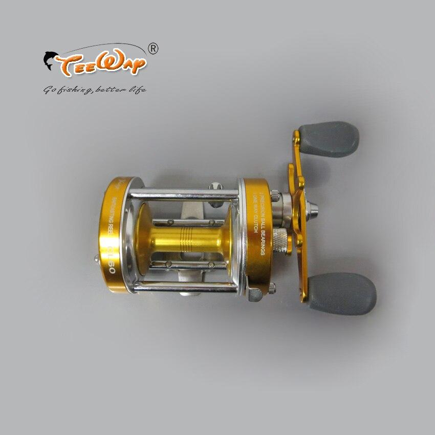 Здесь продается  New Product Full Metal 2+1BB Ball Bearings Right Hand Drum Wheel Boat Sea Fishing Reel Horizontal CZH60 Golden color fly fishing  Спорт и развлечения