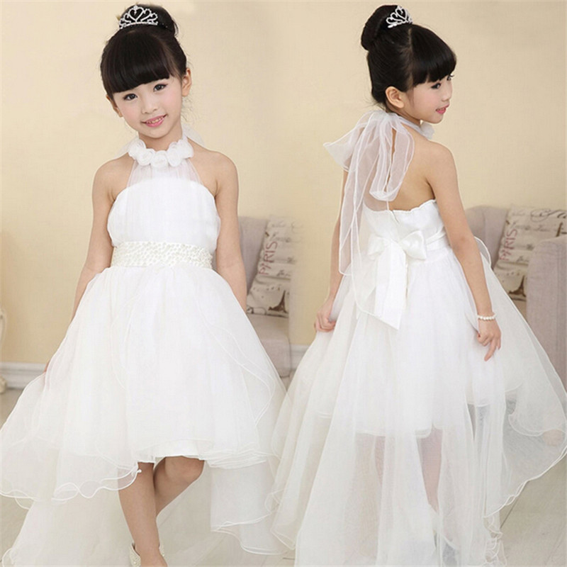 High quality Lace Girl Wedding Dresses For Kid Children Summer Party Summer Princess Floor Length Wedding Dress Big Bow 12 Years налобный фонарь sunree 2 sports2
