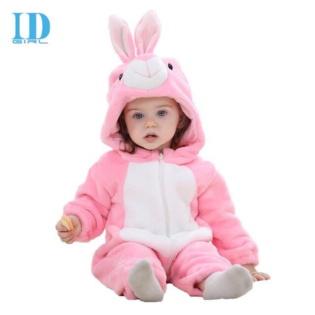 IDGIRL Baby Clothes Infant Romper Baby Boys Girls Jumpsuit New born Bebe Baby Clothing Hooded Toddler Cute Stitch Baby Costumes