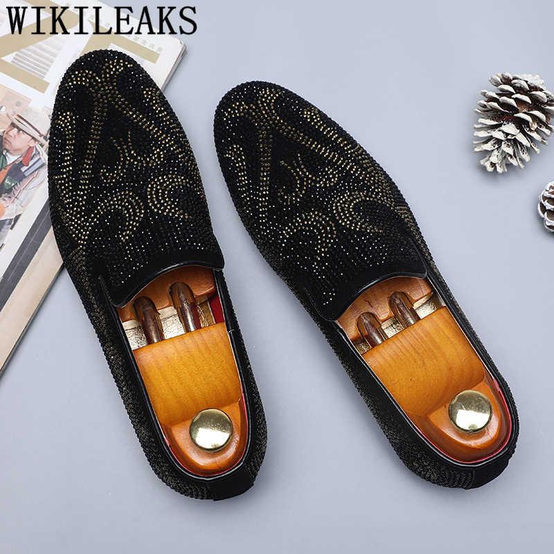 Лоферы, мужские туфли для вечеринок, брендовые блестящие модельные туфли, мужские свадебные элегантные туфли, мужские деловые туфли, большие размеры, sepatu, слипоны, pria