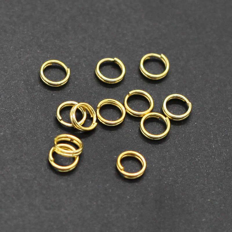 100 pcs loop Duplo anel de ferro/laço chaveiro jóias para fazer jóias colar/Pulseiras/Keychain DIY Acessórios de jóias
