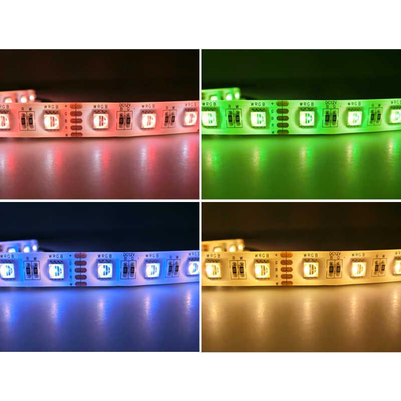 4 en 1 RGBW LED bande 5050 DC12V lumière LED Flexible RGB + blanc/rvb + bande LED blanche chaud 60 LED s/m 5 m/lot.