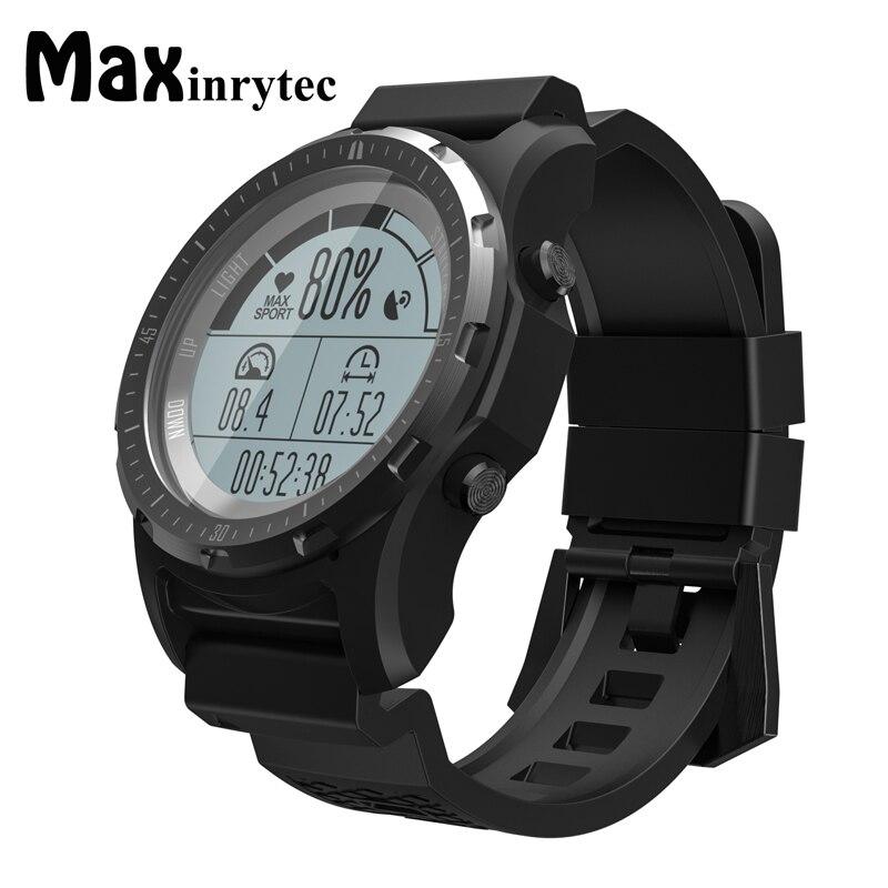 цена Maxinrytec S66 Smart Watch Men GPS Waterproof Fitness Tracker Wristwatch Heart Rate Monitor Sport Clock Compass Smartwatch