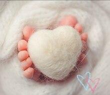 Heart wool handmade DIY bebe photography props accessories crafts materials newborn