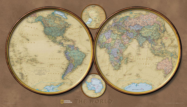 Cotton canvas hemisphere world map national geographic magazine cotton canvas hemisphere world map national geographic magazine version wall hanging paintings for home gumiabroncs Choice Image