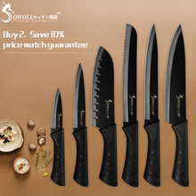 купить Sowoll Stainless Steel Kitchen Knife Cutlery Set 3.5'' 5'' 7'' 8'' Paring Utility Santoku Slicing Bread Chef Knife For Meat Fish по цене 437.55 рублей