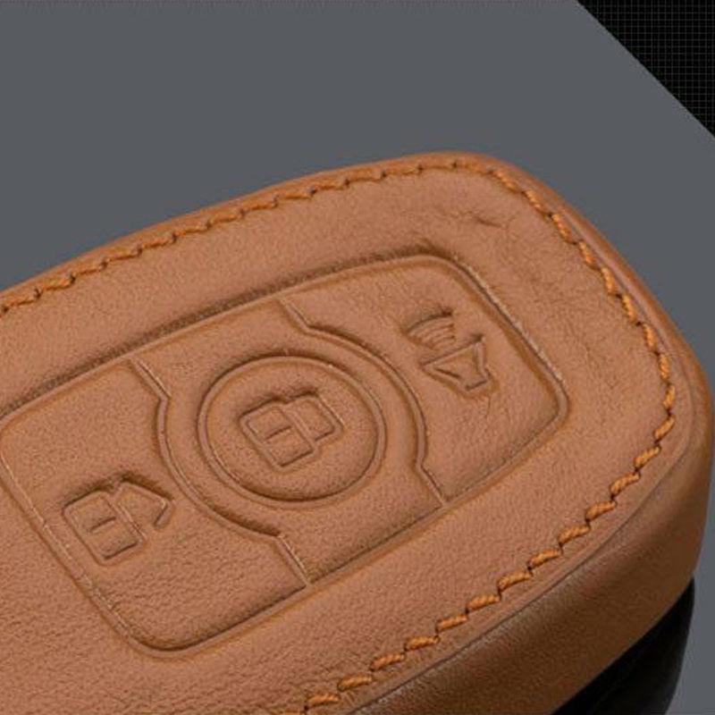 Aliexpress.com  Buy Genuine Leather Car Key Case Smart Key Fob Cover Keychain Fits for Ford Kuga Focus New Focus Folding Car Key Rings Key Chain from ... & Aliexpress.com : Buy Genuine Leather Car Key Case Smart Key Fob ... markmcfarlin.com