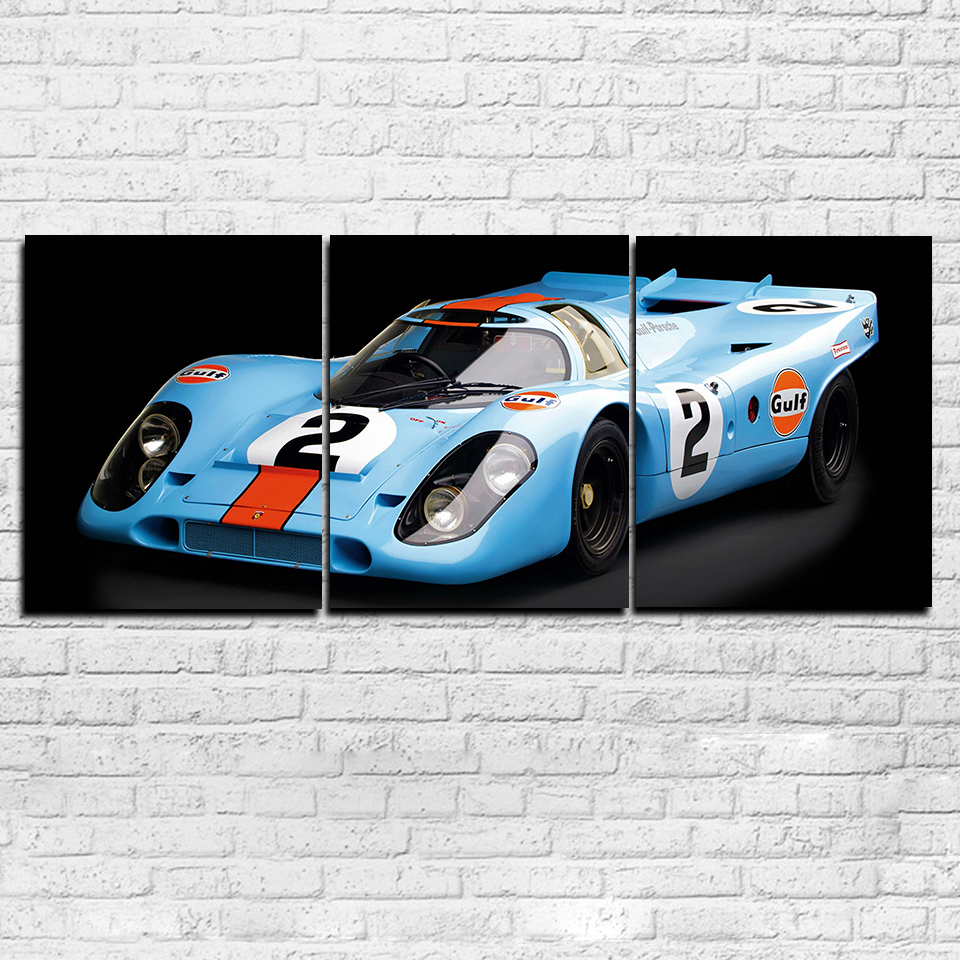 3 Pieces Super Racing Car Paintings HD Prints Sports Car Pictures Home Decor For Living Room Canvas Posters Wall Art Framework
