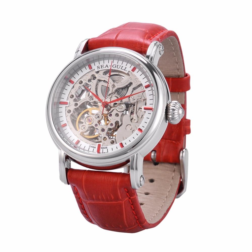 Reloj mecánico automático para el ocio, de cuero genuino, - Relojes para hombres
