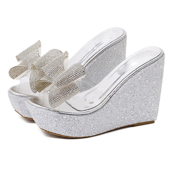 White clear sandal