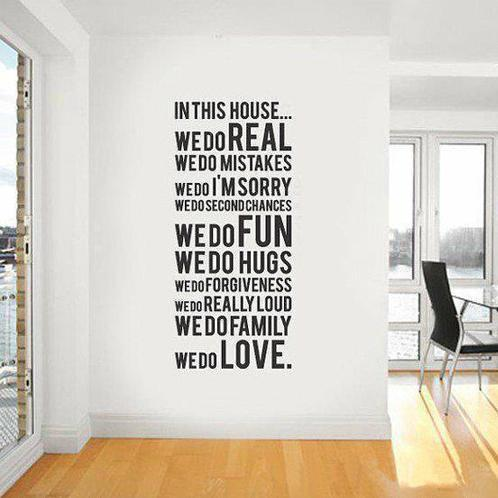 Quote Wall Sticker 60 150 House Rule Art Removable Decal Diy Home Decoration Decor Free Shipping In Stickers From
