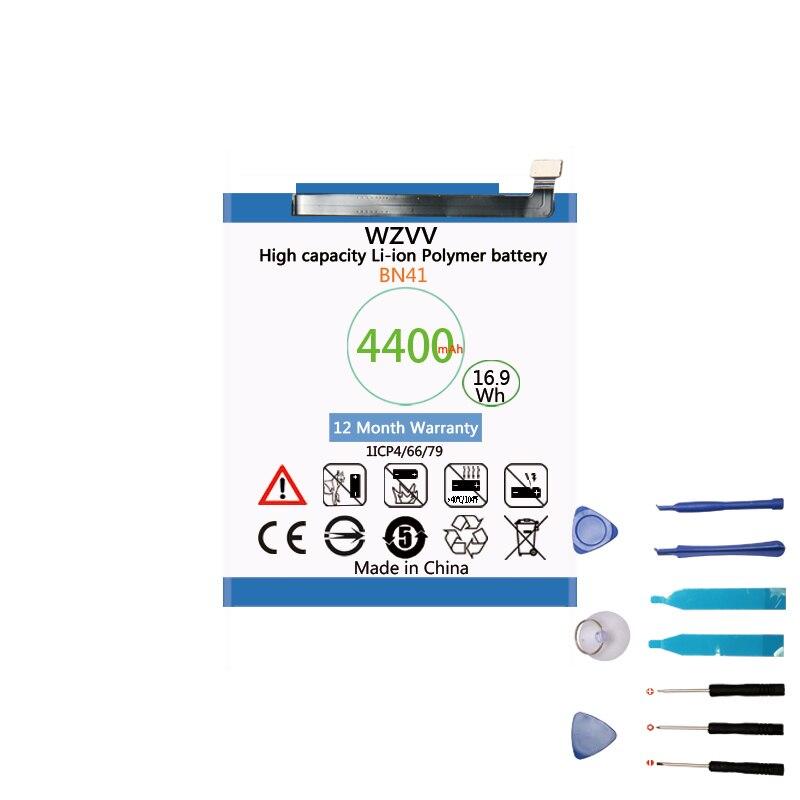 Wzvv 4400 mah Batterie De Remplacement BN41 pour Xiaomi Redmi Hongmi Note 4/Note 4X MTK Helio X20 Batteries + outils