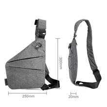Fashion Canvas Chest Bag Men Simple Single Shoulder Bags for Men Chest Pack Anti Theft Male Messenger Bag Black Phone Blosas