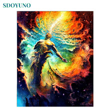 SDOYUNO Frameless DIY Painting By Numbers Dragon pictures by numbers	60x75cm Home Decoration For Unique Gift Canvas