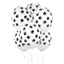 10pcs/lot 12 inch Paws Print Dog Party Balloons Latex Balloons Kids Birthday Gift baby shower Party Toys Decoration globos цена