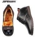 CAMELUUKK зима теплая Кожа Коровы мужчины сапоги моды для мужчин зимние ботинки, удобные ботинки мужчины зимняя обувь, качество снег сапоги