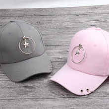 2017 Spring Summer 5 color new Fashion girls Pendant star Baseball Cap Boys Ring cotton Baseball Hats Casquette For child Gorras