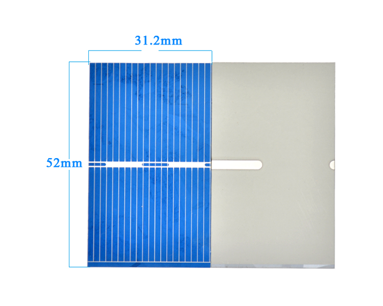 Aoshike 100Pcs Solar Panel Solar Cell 0.5V 0.27W Color Crystal Module DIY Solar Battery Charger 52x31.2MM Power Bank China 4