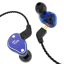 TRN V60 2DD+BA Hybrid In Ear Earphone HIFI DJ Monitor Running Sport Triple Driver Monitor Headset with 2PIN Cable ak trn v20 dd ba hybrid in ear earphone hifi dj monitor running sport earphone earplug headset with 2pin cable