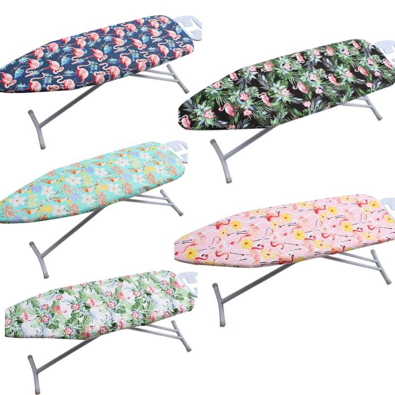 Ironing-Board-Cover Heat-Resistant with Durable Tear Flamingo Saving title=