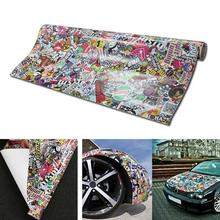 цена на Panda Cartoon Graffiti Car Sticker Bomb Wrap Sheet Decal Sticker New