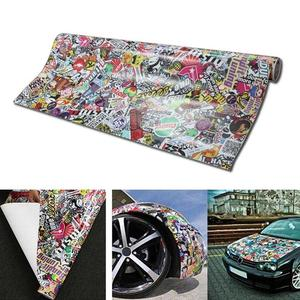 Image 1 - Panda Cartoon Graffiti Car Sticker Bomb Wrap Sheet Decal Sticker New