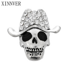 10Pcs/lot DIY 18mm Big Clown Skull Snap Buttons Interchangeable Jewelry Accessory Metal Charm Snap Jewelry For Bracelet