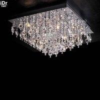 Luzes de Teto De ouro quadrado minimalista de cristal montagem embutida de alta-grau de cristal lâmpada quarto do hotel lâmpada L65cm x H30cm