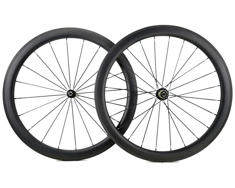 700C 50mm depth Road bike carbon wheels 25mm width bicycle clincher/Tubular carbon wheelset U shape rim Customizable decals