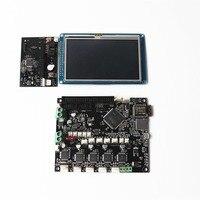 Duet Wifi V1.03 плата контроллера Расширенная 32 битная материнская плата с 4,3 дюймовым PanelDue цветной сенсорный экран для 3D принтера