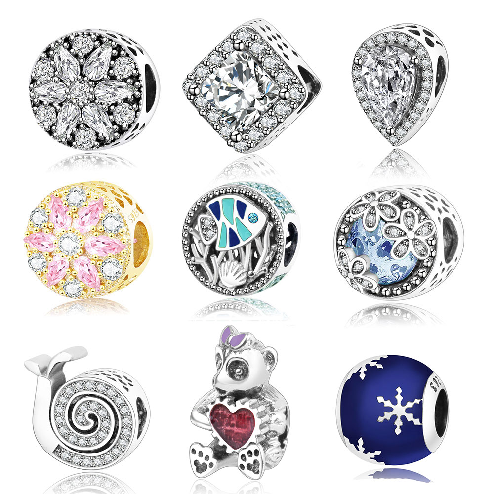 2017 hot sale fit pandora charms original bracelet
