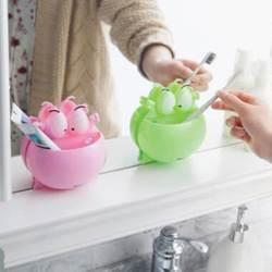 Милый забавный мультфильм лягушка всасывания крюк зубная щетка Зубная паста держатель стойки контейнер настенное крепление Стенд