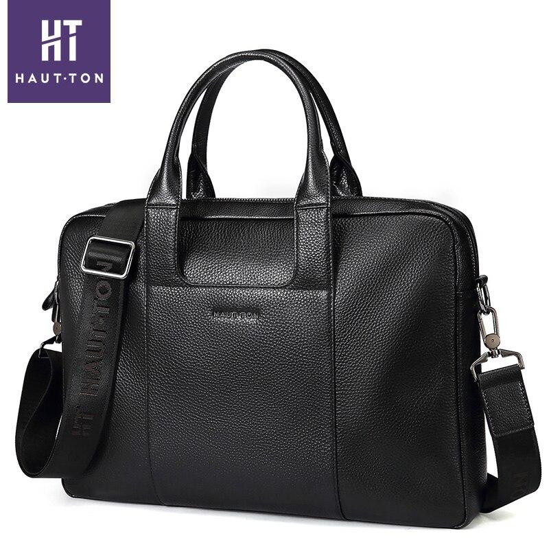 100% véritable mallette en cuir sac hommes bandoulière sacs hommes voyage 14 pouces sacs à bandoulière fourre-tout ordinateurs portables d'entreprise porte-documents