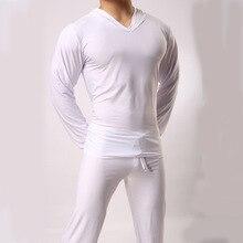 Атласная пижама для мужчин повседневная лед Шелковая пижама Топ Удобная Пижама Топ Домашняя одежда сексуальное ночное белье подходит для всех сезонов