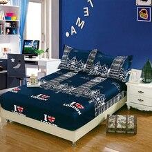 Nueva flor colorida simmous cama sábana ajustable algodón Poliéster cubierta fija ropa de cama suave 3 Tamaño sin funda de almohada