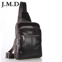 7216C J M D Vintage Leather Fashion Men Coffee Chest Bag Waist Packs