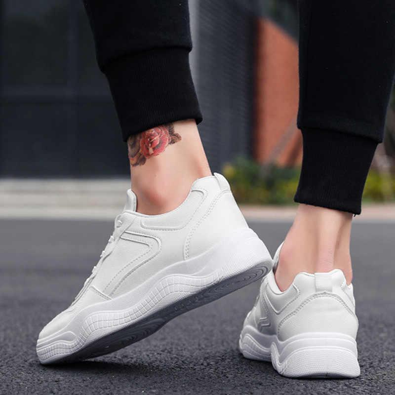 2019 גברים נעליים יומיומיות תחרה עד איש סניקרס נוחות גברים נעלי לבן סניקרס זכר למבוגרים אופנה סניקרס Zapatillas Hombre