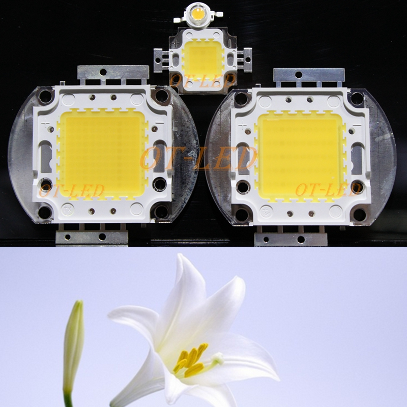 High Power 1W 3W 5W 10W 20W 30W 50W 100W White Full Spectrum LED Grow Light Diodes 6500K & 380-780nm Aquarium Plant LED COB Chip gu10 6500k 3w 260 lumen 3 led white light blue 85 245v