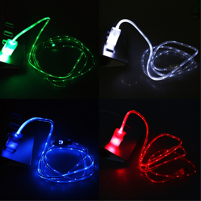 Micro USB Cable Super Strong Microusb Cables 6 Color Fast Charging LED Lighting For Android Samsung Galaxy for HTC Lenovo Huawei