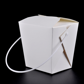Disposable Paper Lunch Box with Handle Eco Friendly 4 size Takeaway Cake Dessert Box Party Supplies 100pcs/lot SK730
