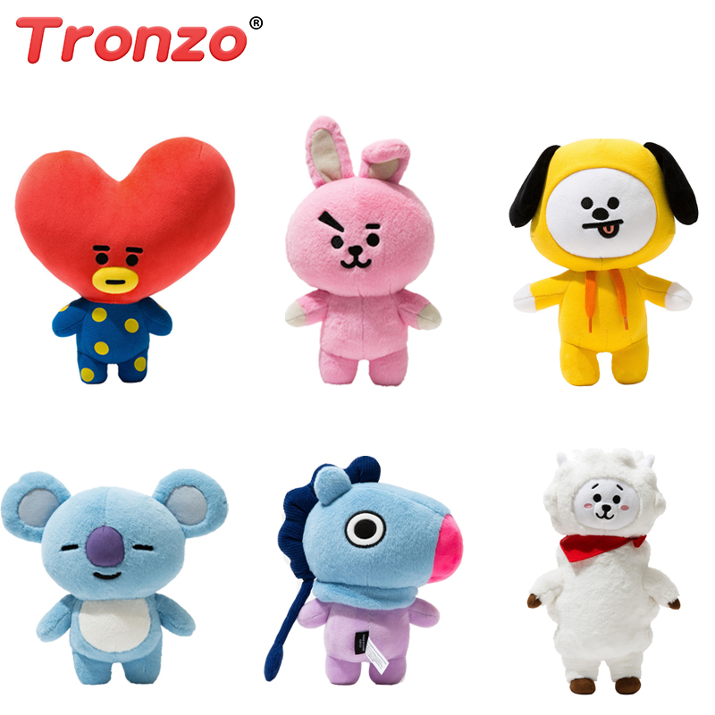 Tronzo 30cm Bt21 Bangtan Boys BTS Kawaii Jumbo Plush Toy TATA VAN COOKY CHIMMY SHOOKY KOYA RJ MANG Gift For Girl Wholesale 20cm kpop bangtan boys bts bt21 plush toys doll tata van cooky chimmy shooky koya mang plush stuffed toys for children kids gift