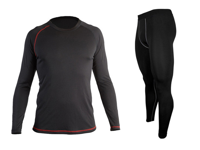 5637620b24 US $29.99 |Cheap New Mens Moisture Wicking Quick Dry BaseLayer Long Sleeve  Tops Shirt Tight Leggings Compression Running Set-in Running Sets from ...