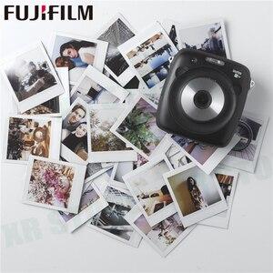 Image 5 - 10 100 ورقة Fujifilm Instax مربع الفورية الأبيض الأسود إطار الأفلام ل فوجي SQ10 SQ6 حصة SP 3 طابعة صور الكاميرا