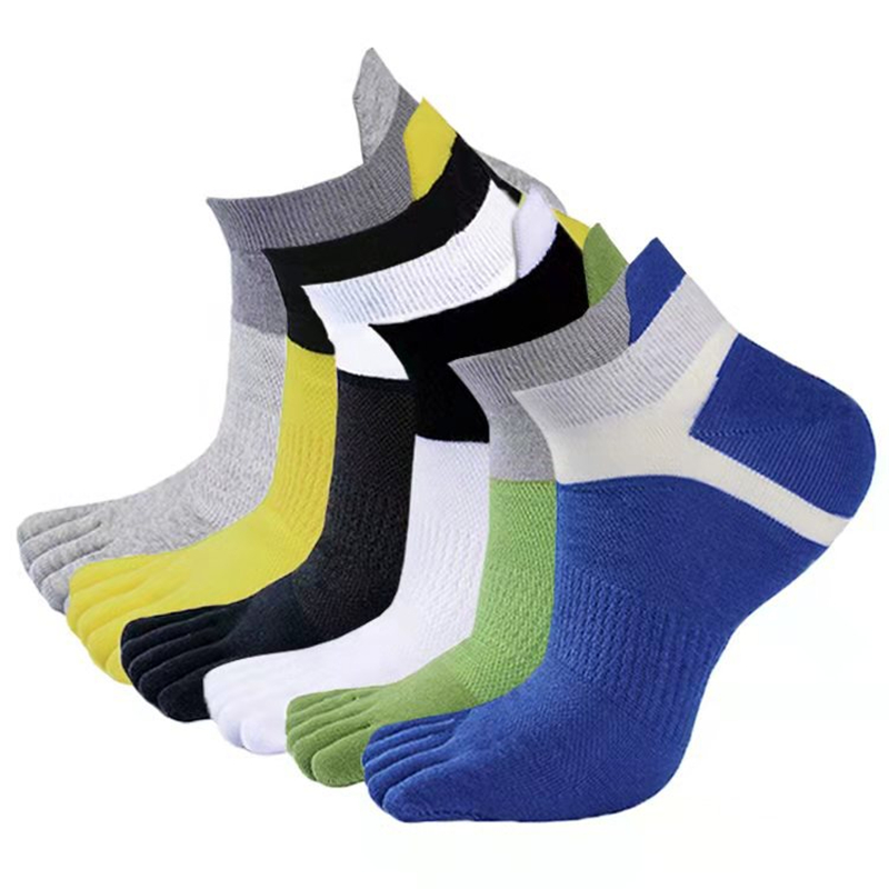 3 Pairs/Lot Men's Sport Socks Toe Socks Breathable Cotton Five Fingers Socks Deodorant Socks