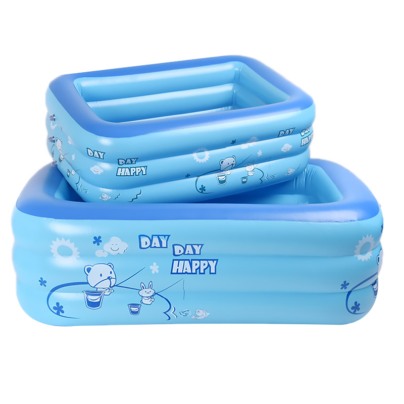 Baby Inflatable Square Swimming Pool For Kids Children 120cm 130cm Size Portable Outdoor Basin Bathtub Household Water Sport