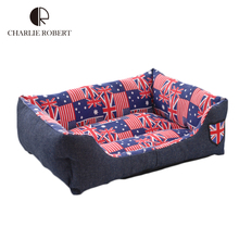 Dog Bedding New 2016 Beds Flag Pattern Pets Beds Soft House For Dog Care Dog Products Pet Cats Mats Beds Pet Products Washable