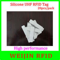 VIKITEK 5813 silicone UHF RFID Tag 20pcs per pack Alien Higgs 3 chip ,Water proof, high temperature resistance free shipping.