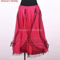 Yeni flamenko etek Latin salsa flamenko Balo Salonu Dans Elbise etek ---- Yeni dans kadınlar için skrit/İspanya dans etek
