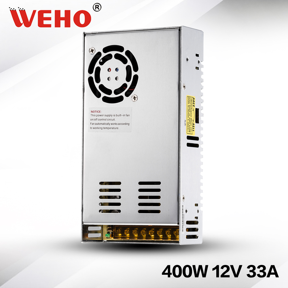 все цены на (S-400-12) Cooling Fan 400 watt switch mode power supply dc 12V 30A/33A power supply 400W 12V онлайн